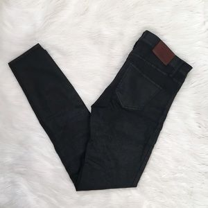 Madewell Black Coated Skinny Skinny Jeans